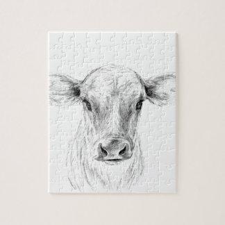 Quebra-cabeça MOO uma vaca nova do jérsei
