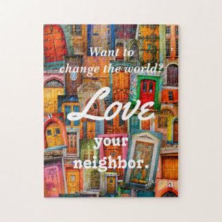 Quebra-cabeça Mude o amor do mundo suas portas originais