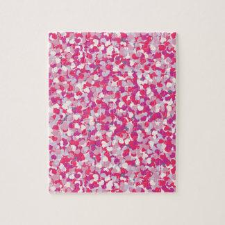 Quebra-cabeça multi coração Confetti2 da cor
