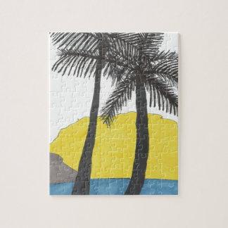Quebra-cabeça Nascer do sol da palmeira