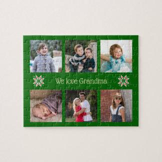 Quebra-cabeça Natal feito sob encomenda do quadro do verde do