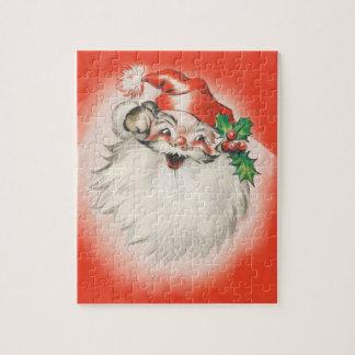 Quebra-cabeça Natal vintage, 50 retro alegre Papai Noel