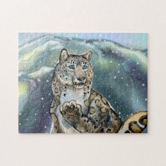 Quebra-cabeça Neve Leopard~puzzle