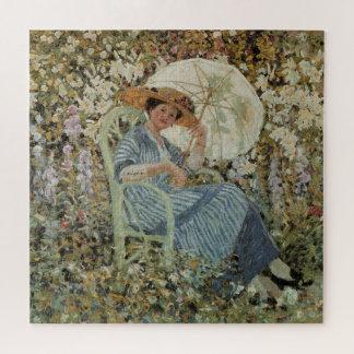 Quebra-cabeça No jardim, Giverny por Frederick Frieseke