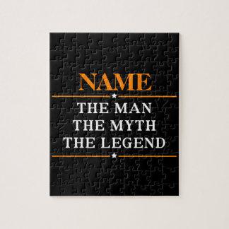 Quebra-cabeça Nome personalizado o homem o mito a legenda