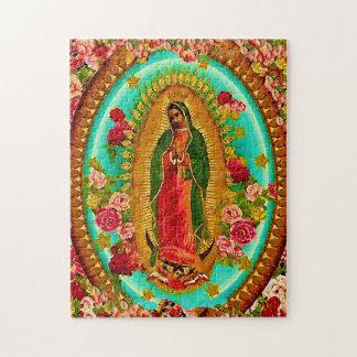 Quebra-cabeça Nossa Virgem Maria mexicana do santo da senhora