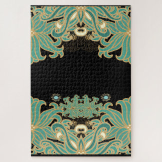Quebra-cabeça nouveau da arte, vintage, floral, époque do belle,
