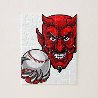 Quebra-cabeça O basebol do diabo ostenta a mascote