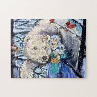 Quebra-cabeça O inverno enrola Polarbear