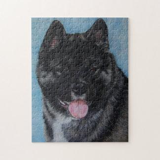 Quebra-cabeça o preto enfrentou a arte do retrato do cão da
