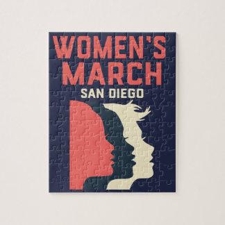 Quebra-cabeça oficial do março San Diego das