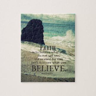 Quebra-cabeça Onda de oceano da praia das citações da fé