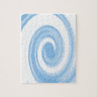 Quebra-cabeça Onda espiral gráfica azul e branca de Digitas