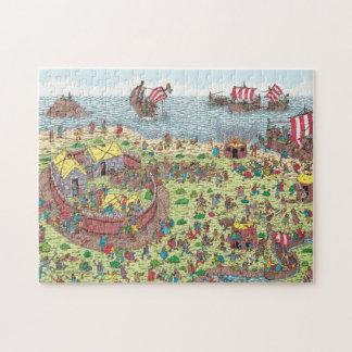 Quebra-cabeça Onde está Waldo | na excursão com os Viquingues