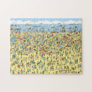 Quebra-cabeça Onde está Waldo na praia