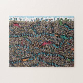 Quebra-cabeça Onde estão os caçadores subterrâneos de Waldo |