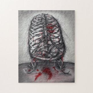 Quebra-cabeça original da arte do horror vazio da