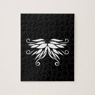 Quebra-cabeça Ornamento brancos pretos do Nordic de Sibéria