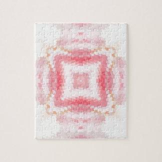 Quebra-cabeça Ornamento étnico abstrato geométrico cor-de-rosa