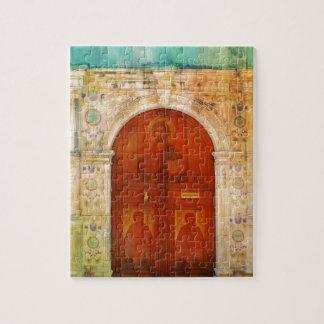 Quebra-cabeça Ortodoxo grego da porta do ícone do Jesus Cristo