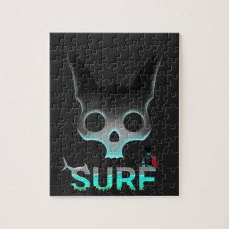 Quebra-cabeça Os grafites urbanos do surf refrigeram o gato
