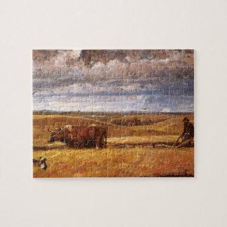 Quebra-cabeça Ossos do búfalo arados abaixo por Harvey Thomas