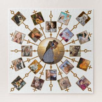 Quebra-cabeça Ouro branco bonito das imagens da colagem 21 da
