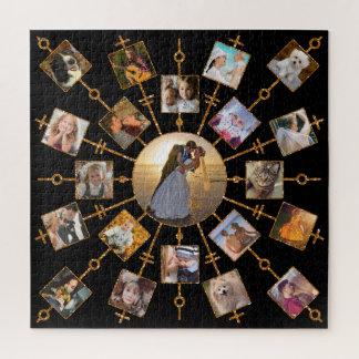 Quebra-cabeça Ouro preto bonito das imagens da colagem 21 da