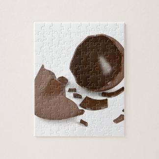 Quebra-cabeça Ovo de chocolate quebrado