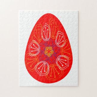 Quebra-cabeça Ovos da páscoa alinhados com a mandala diferente