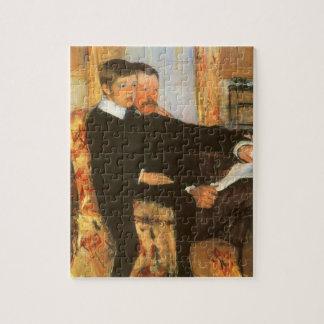 Quebra-cabeça Pai do vintage e retrato do filho por Mary Cassatt