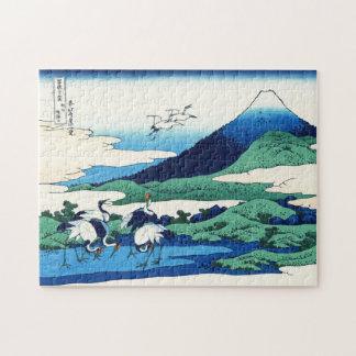 Quebra-cabeça Paisagem oriental legal da opinião de Hokusai Fuji