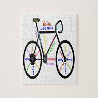 Quebra-cabeça Palavras inspiradores ou inspiradas da bicicleta