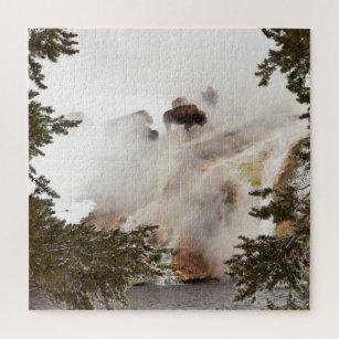 Bison Crossing quebra-cabeça 1000 Peças Parque nacional Yellowstone