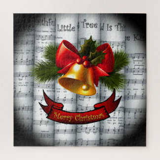 Quebra-cabeça Partitura rolada ~ do Natal de Bell~ Holly~Ribbon