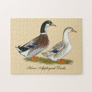 Quebra-cabeça Patos:  Appleyard de prata