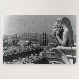 Quebra-cabeça Pensador da catedral de France Paris Notre Dame do