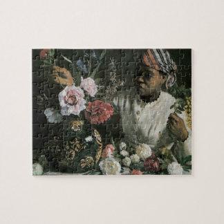 Quebra-cabeça Peônias africanas por Bazille, flores da mulher do
