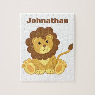 Quebra-cabeça personalizado do leão