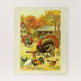 Quebra-cabeça Perus e galinhas