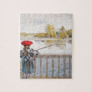 Quebra-cabeça Pesca de Lisbeth por Carl Larsson