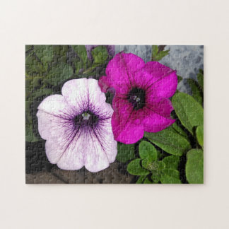 Quebra-cabeça Petúnia cor-de-rosa e roxo