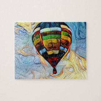 Quebra-cabeça pintado do balão de ar quente