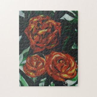Quebra-cabeça pintados do desenhista dos rosas