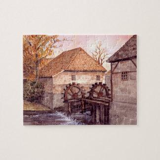Quebra-cabeça Pintura da aguarela de Watermill pelo Greenfield