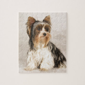 Quebra-cabeça Pintura da senhorita Mia Foto de Yorkie do retrato