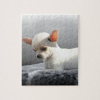 Quebra-cabeça Pintura de assento da arte do retrato do cão do