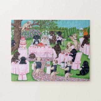 Quebra-cabeça Pintura do casamento de Labrador