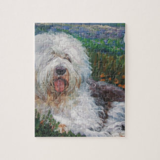 Quebra-cabeça Pintura inglesa velha bonita da arte do cão do