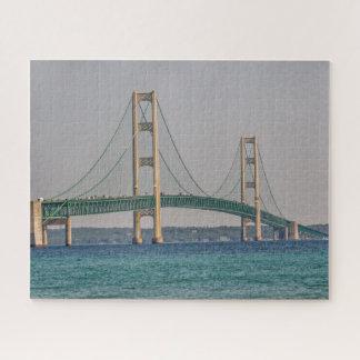 Quebra-cabeça Ponte de Mackinac majestosa de Michigan
